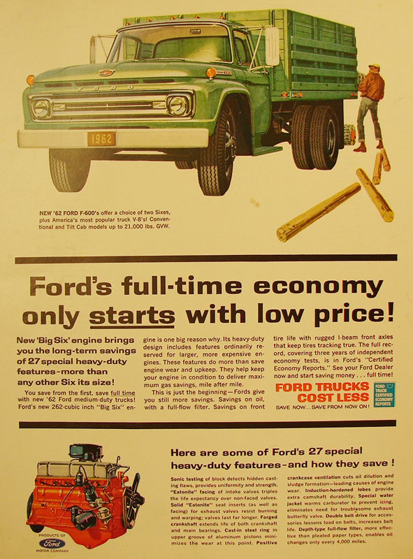 Ford's full-time economy only starts with low price!, 1962