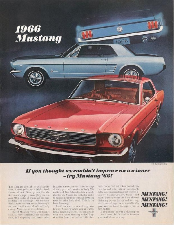 If you thought we couldn't improve on a winner - try Mustang, 1966