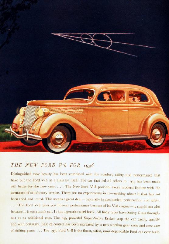 The new Ford V8 for 1936