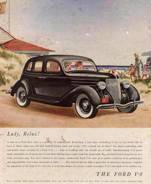"Ford V8 ""Lady, relax!"", 1936"