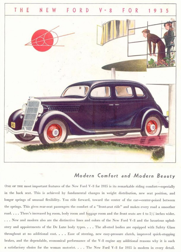 "Ford V8 ""Modern comfort and modern beauty"", 1935"
