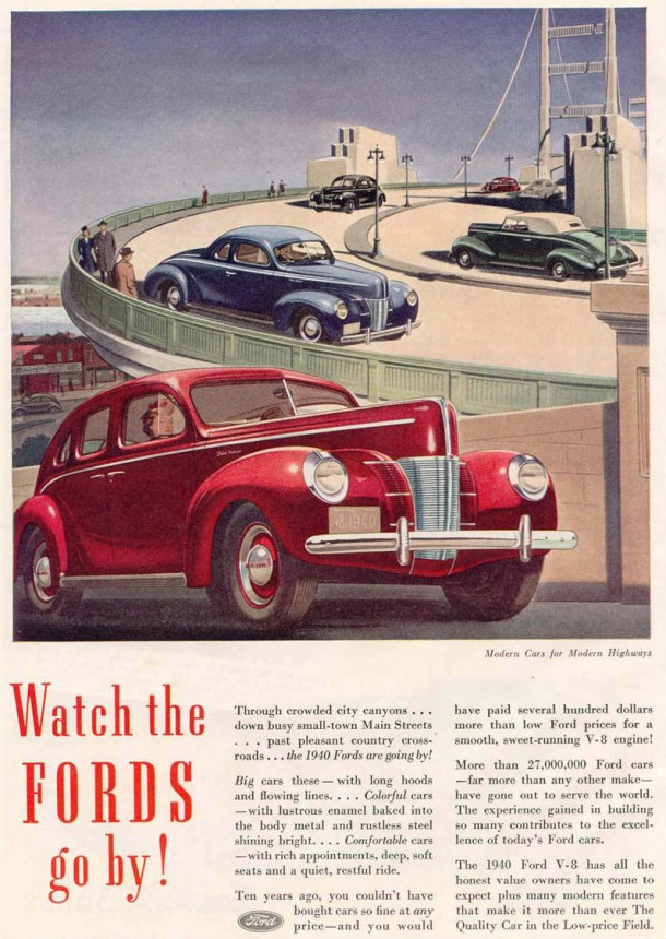 Watch the Fords go by!, 1940