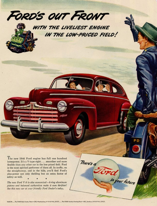 Ford's out front with the liveliest engine in the low-priced field!, 1946