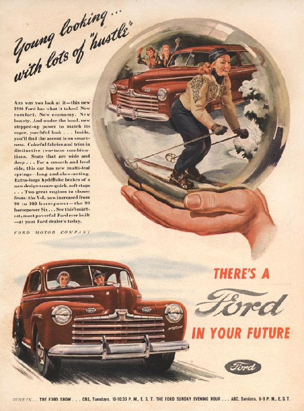 """Young looking... with lots of """"hustle"""", 1946"""