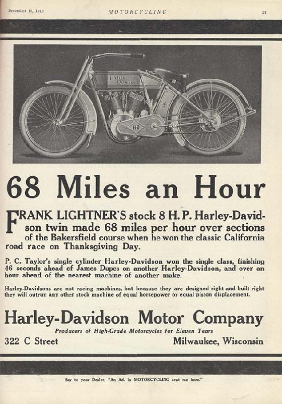 68 Miles an Hour, 1912
