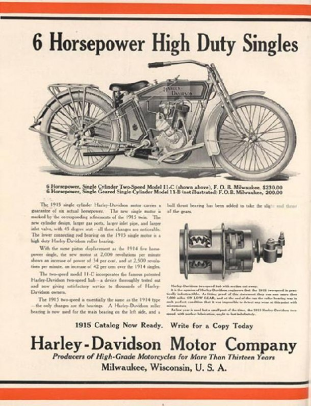 6 Horsepower High Duty Singles, 1914