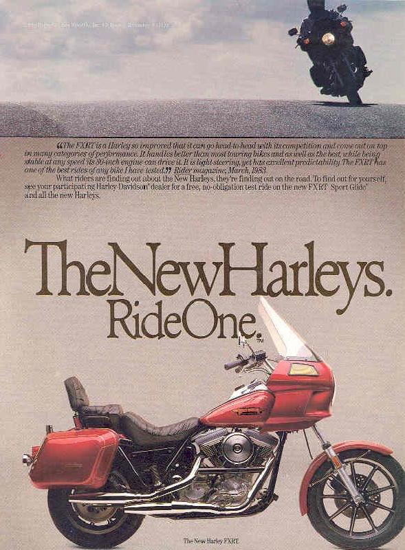 The new Harley-Davidson FXRT Sport Glide, 1984