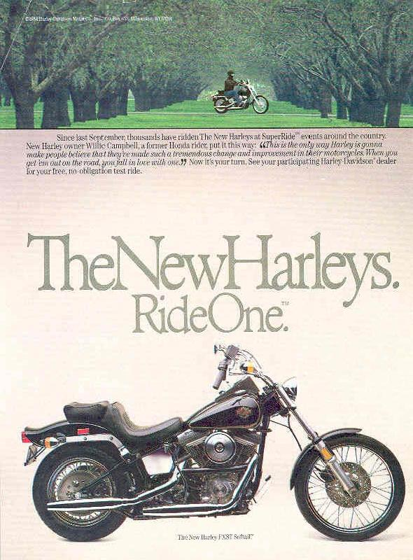 The new Harley-Davidson FXST Softail, 1984