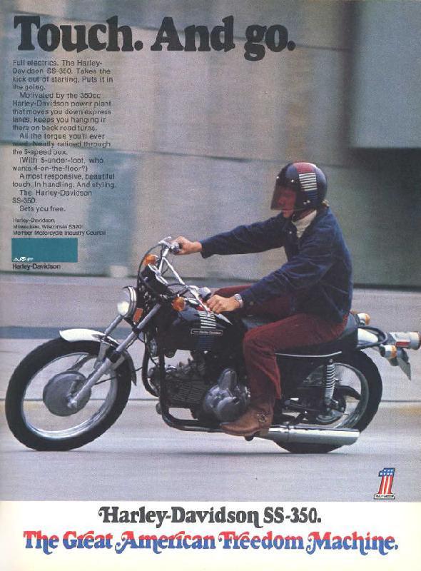 Harley-Davidson SS-350, 1973