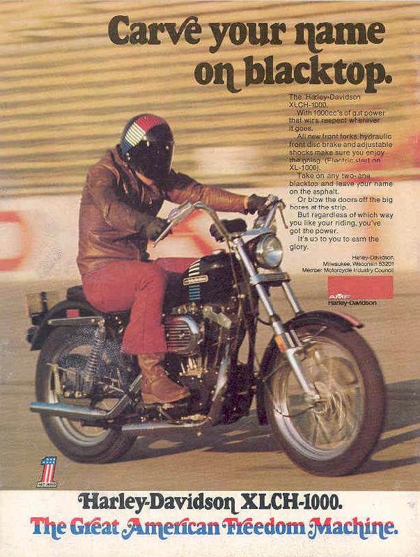 Harley-Davidson XLCH-1000, 1973