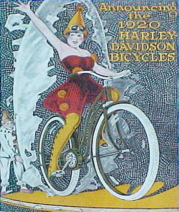 Announcing the 1920 Harley-Davidson bicycles, 1920