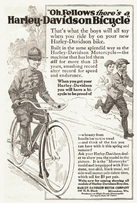 Harley-Davidson bicycle, 1917