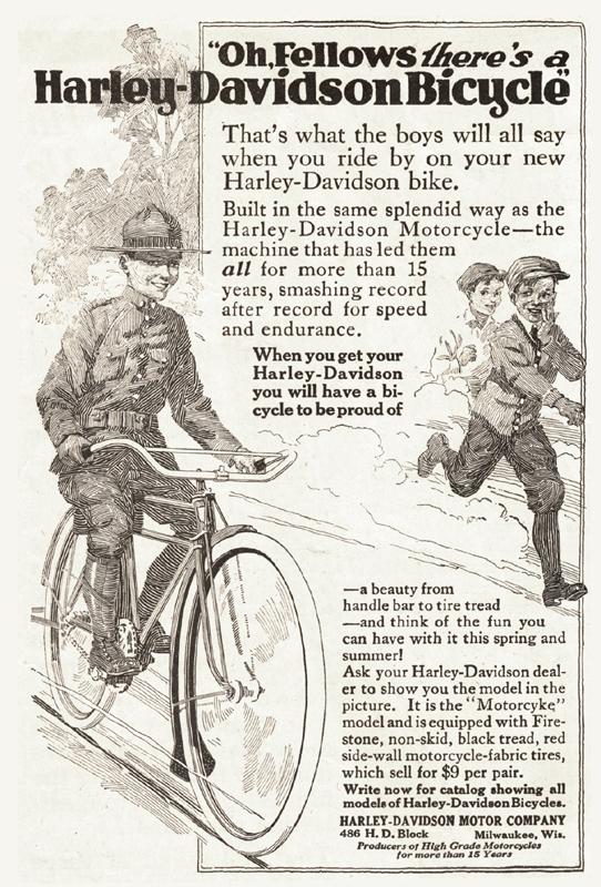 Harley-Davidson bicycle, 1917