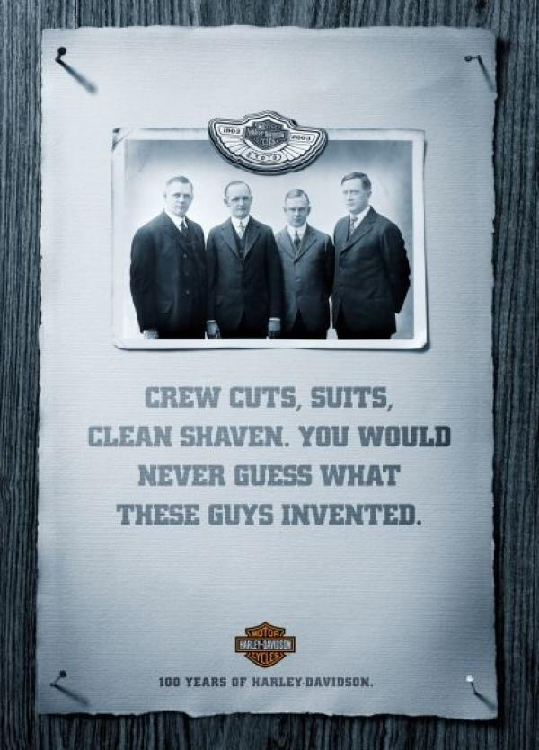 Crew cuts, suits, clean shaven. You would never guess what these guys invented, 2004