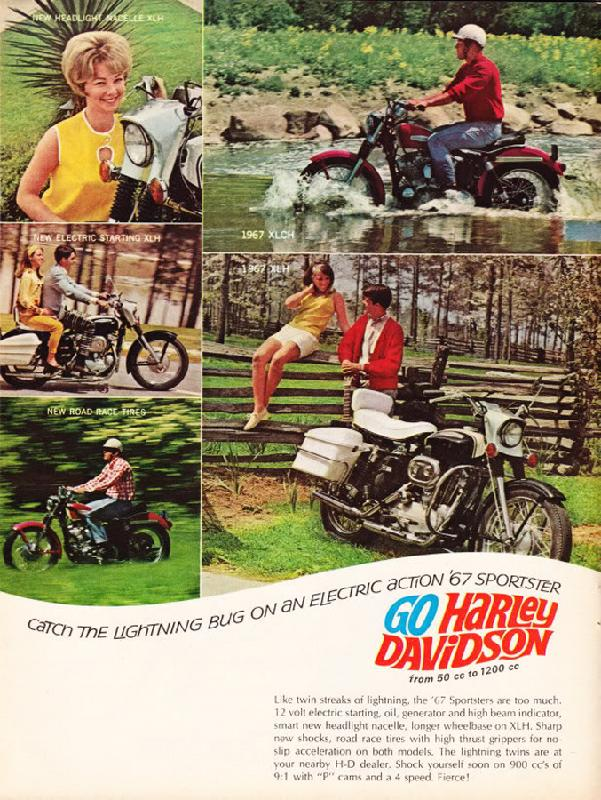 Catch the lightning bug on an electric action '67 sportster, 1967