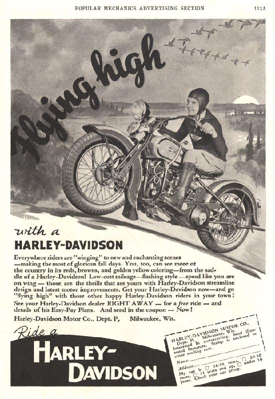Flying high with Harley-Davidson, 1936