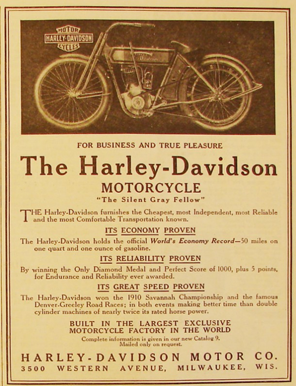 The Harley-Davidson - For business and true pleasure, 1911