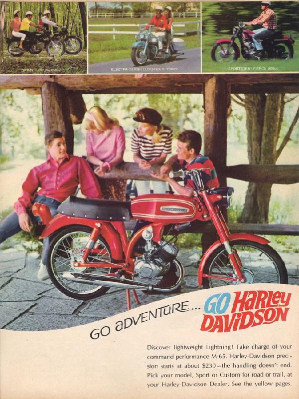 Go adventure... go Harley-Davidson, 1967