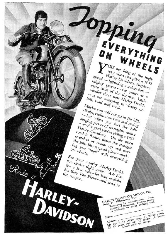 Your are king of the highway when you pilot a 1935 Harley-Davidson