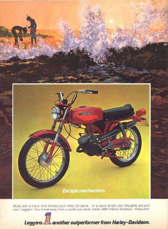 Leggero. Another outperformer from Harley-Davidson, 1972