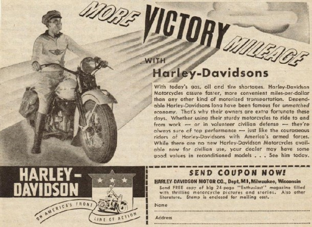 More victory mileage with Harley-Davidson, 1942
