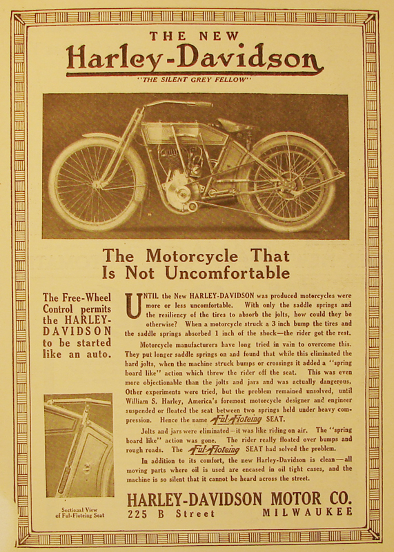 The motorcycle that is not uncomfortable, 1912