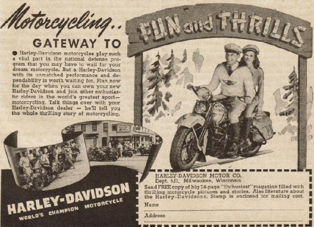 Motorcycling gateway to fun and thrills, 1941