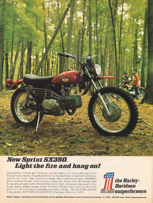 New Sprint SX350. Light the fire and hang on!, 1971