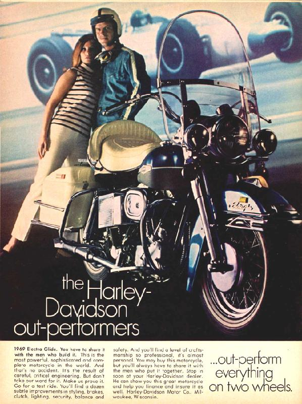 The Harley-Davidson out-performers, 1969