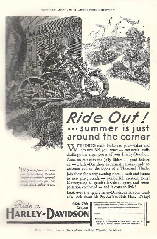 Ride out! ... summer is just around the corner, 1932