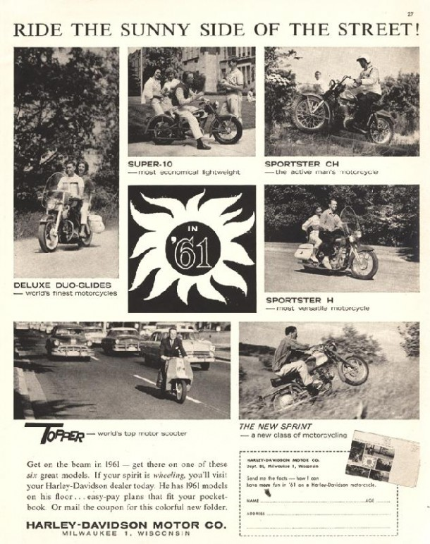 Ride the sunny side of the street!, 1961