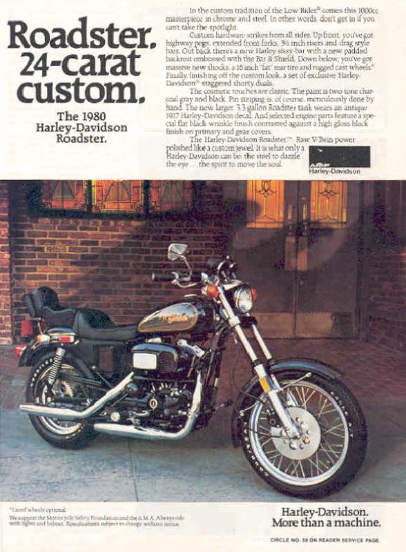 Roadster 24-carat custom. The 1980 Harley-Davidson Roadster