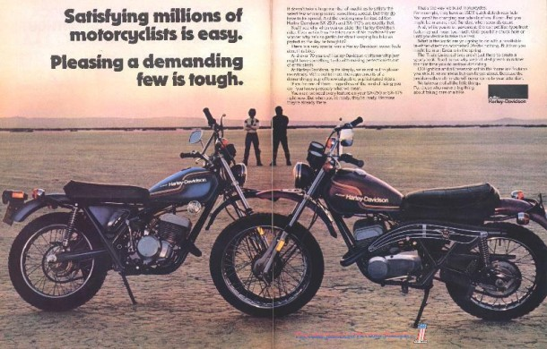 Satisfying millions of motorcyclists is easy, 1975