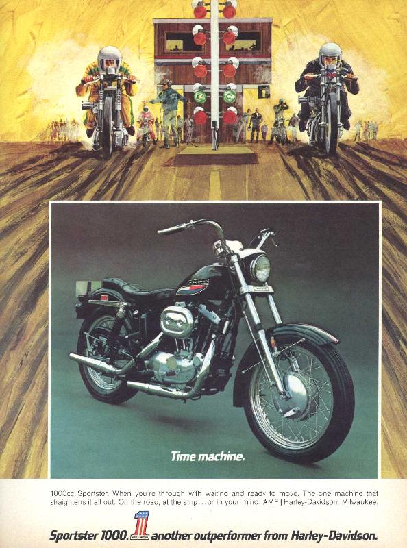 Sportster 1000. Another outperformer from Harley-Davidson, 1972