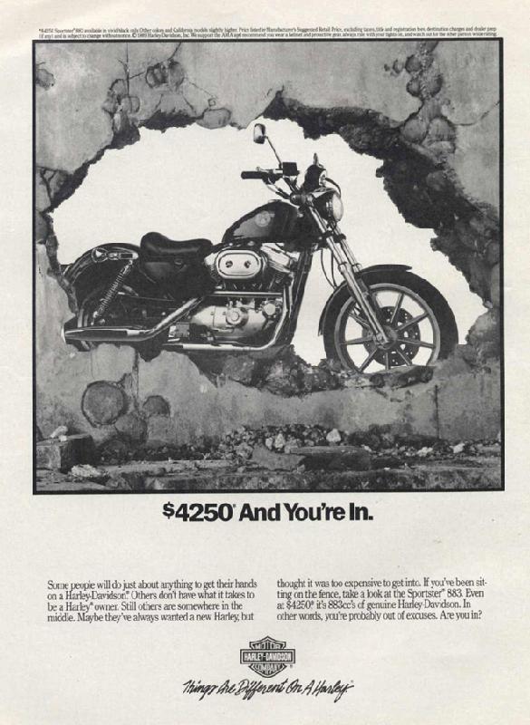Harley-Davidson Sportster 883, 1990