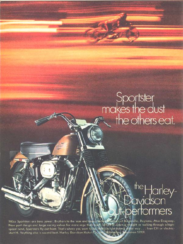Sportster makes the dust the others eat, 1970