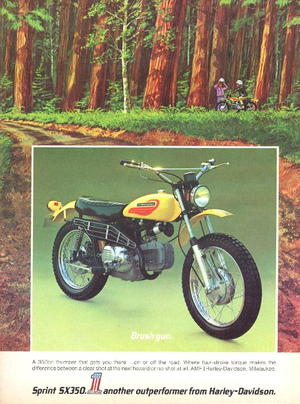 Sprint SX350. Another outperformer from Harley-Davidson, 1972