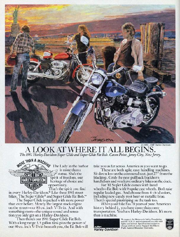 The 1981 Harley-Davidson Super Glide and Super glide Fat Bob