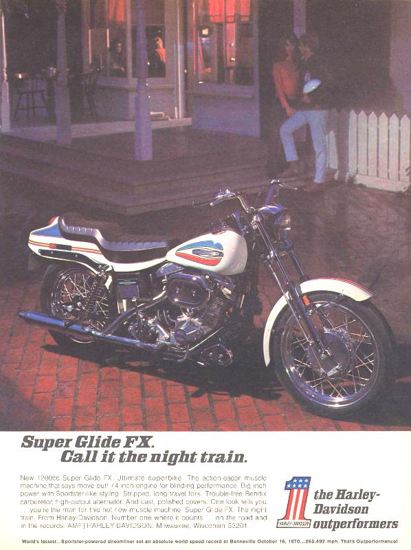 Super Glide FX call it the night train, 1971