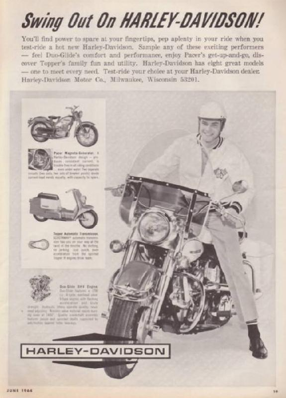 Swing out on Harley-Davidson!, 1964