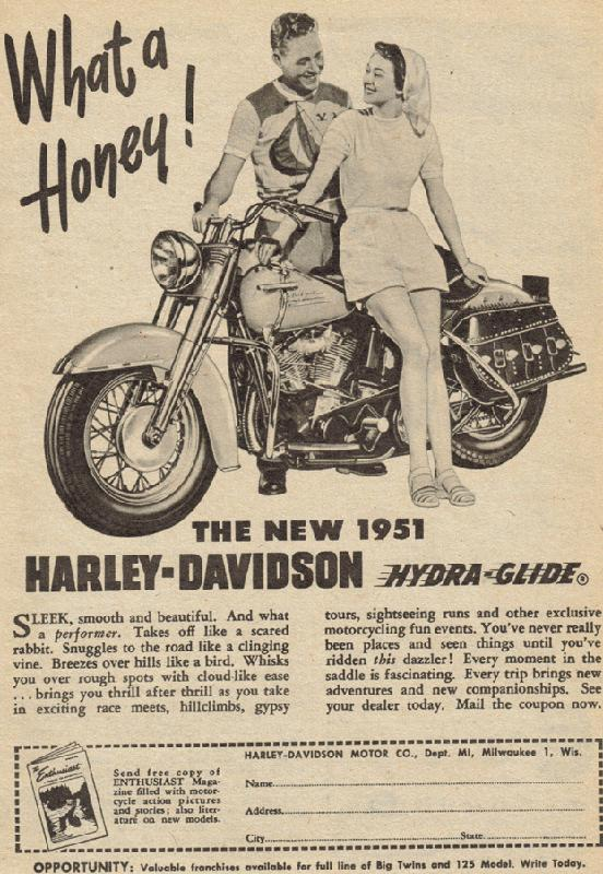 What a honey, the new 1951 Harley-Davidson