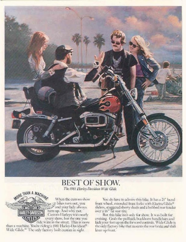 Best if show, the 1981 Harley-Davidson Wide Glide