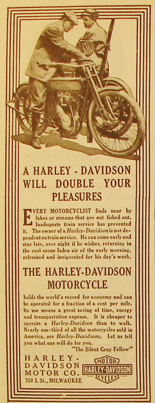 A Harley-Davidson will double your pleasures, 1911
