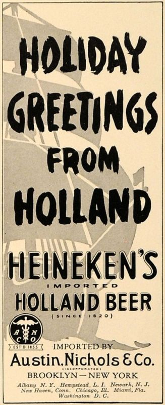 1938 Ad Austin Heineken's Imported Holland Beer Alcohol