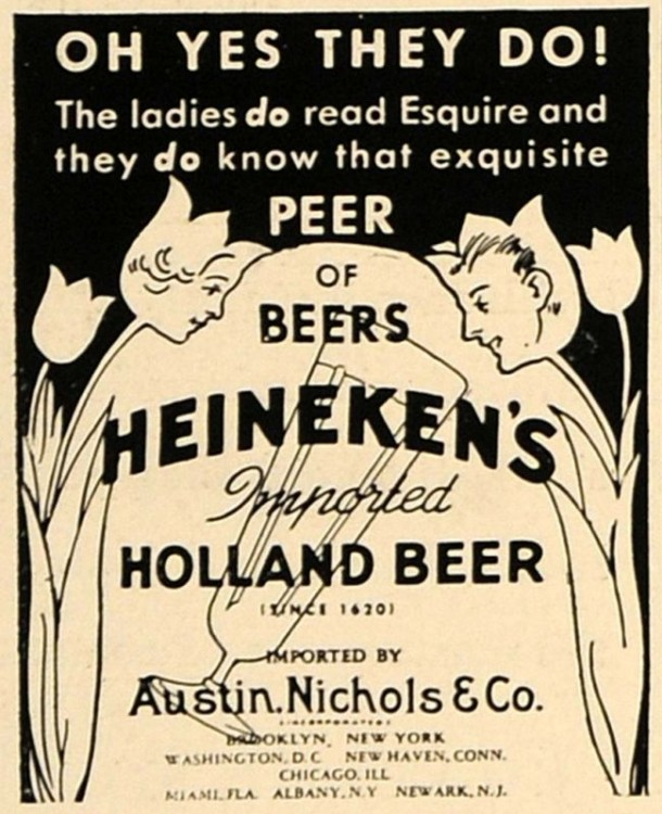 1936 Ad Heineken's Imported Holland Beer Nichols Austin