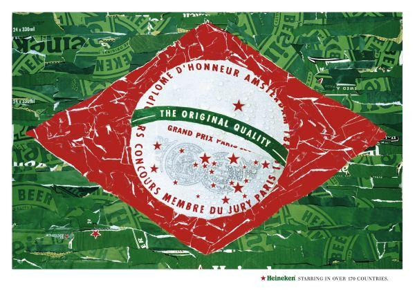 Heineken: Brazilian flag, 2004