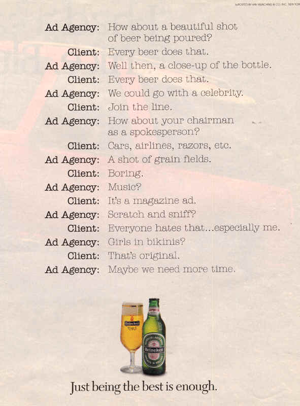 Chat with Ad Agency, 1993