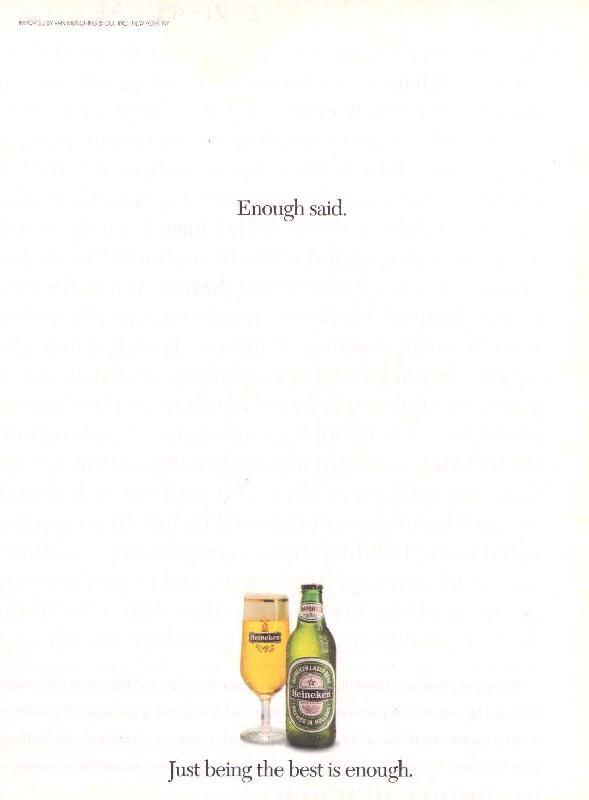 Enough said, 1994