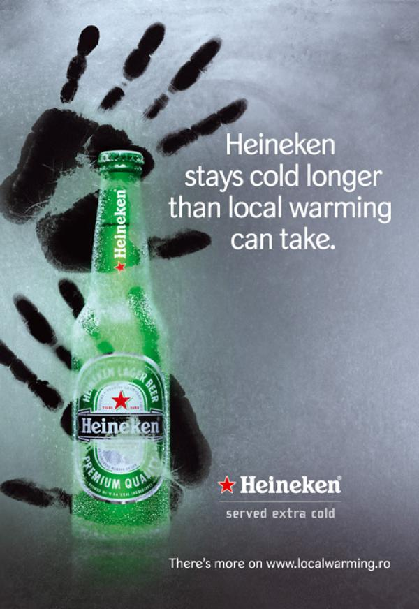 Heineken stays cold longer than local warming can take, 2007