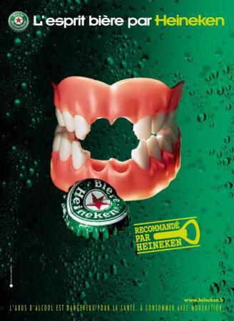 Heineken: set of teeth, 2003